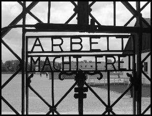 Dachau--Arbeit macht frei by Kerbi