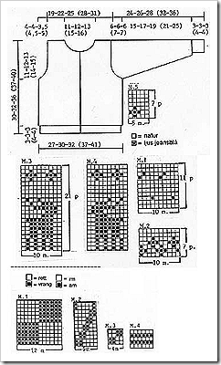 схема вязания свитера с оленями
