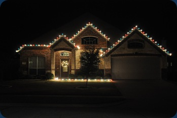 Our house with lights