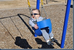 Cool dude on the swing