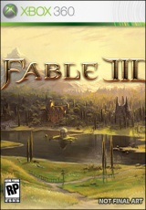 Fable 3, Xbox, box, art, cover