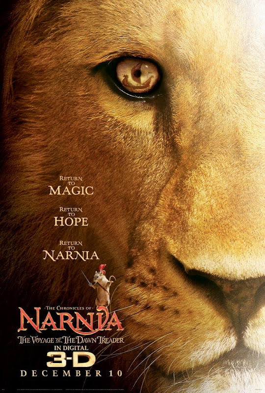 The Chronicles of Narnia: The Voyage of the Dawn Treader, movie, poster, Narnia 3