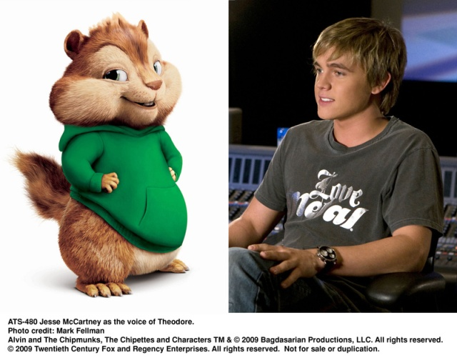 Jesse McCartney, theodore, alvin, chipmunks, The Squeakuel