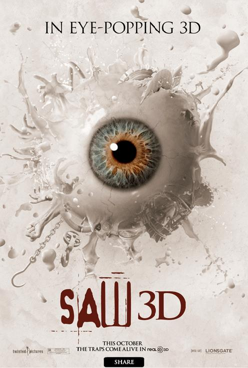 Saw 3D, new, movie, poster