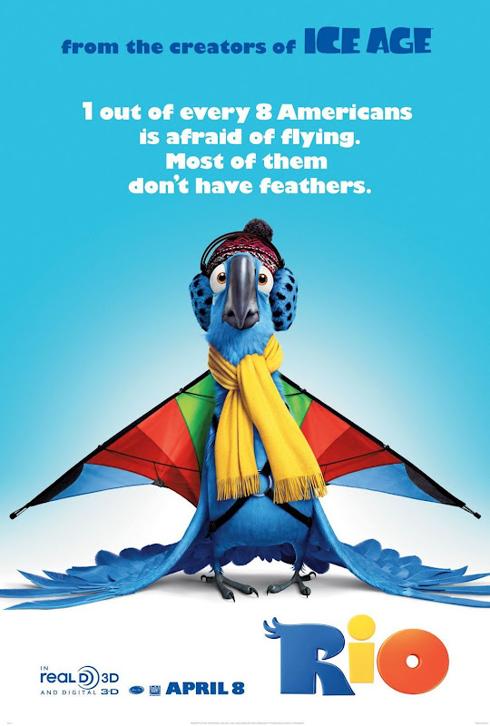 Rio 3D, new, movie, poster