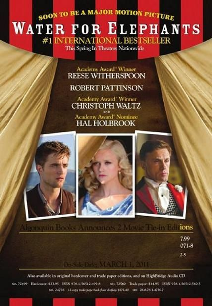 Water for Elephants, movie, poster