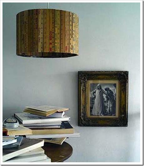 collstockból kreatív lámpa