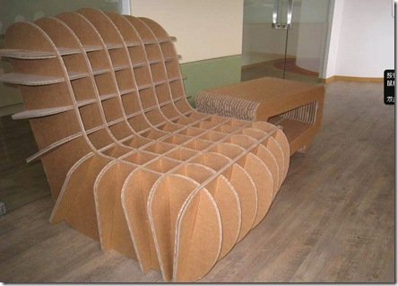 DIY_creative_corrugated_paper_single_sofa