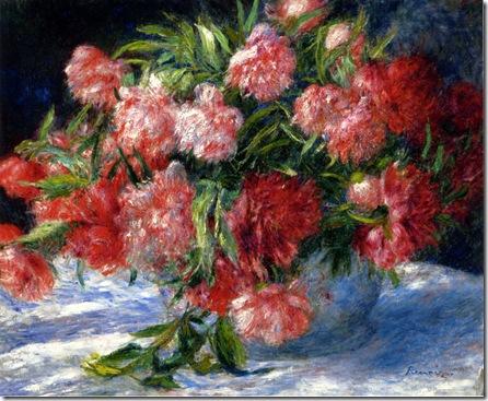 Peonías de Renoir