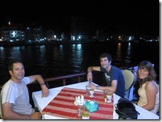 dinner on a boat in HaTien