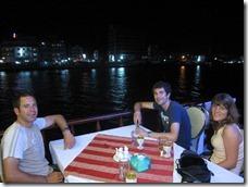 dinner on a boat in HaTien