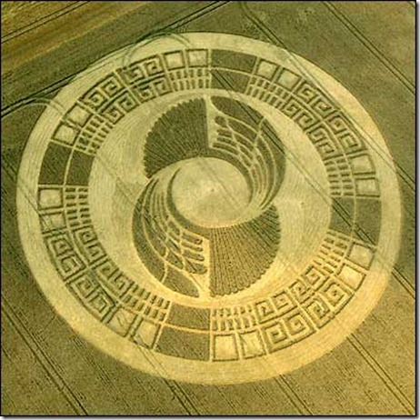 CropCircle-2012-Mayan-Wheel-Silbury Hill, Wiltshire, 2-3 August 2004