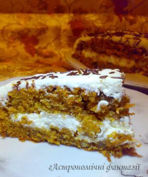 Духмяний морквяний торт