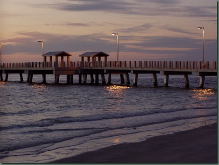 lighted pier