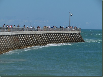 people fishing on pier