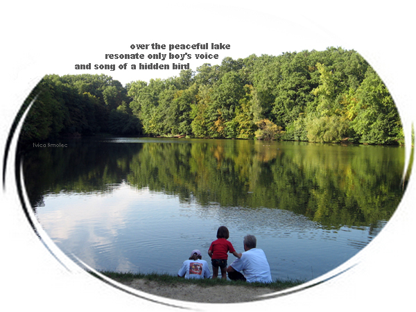 Peaceful lake - haiga