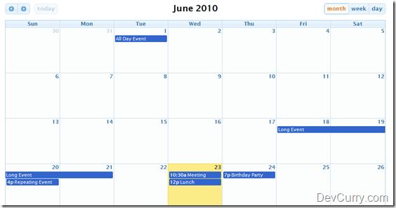 event calendar jquery free download