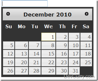 jQuery UI Datepicker Background