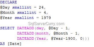 Create Date T-SQL