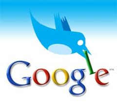 twitter e google