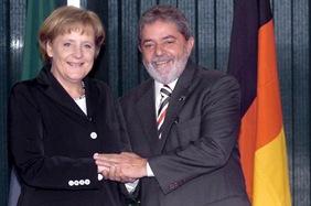 Angela Merkel e Lula