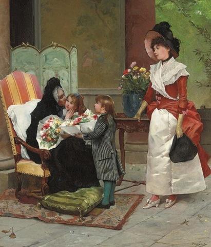 EDMUND ADLER (1876-1965) Emile_Auguste_Pinchart_The_family_vi