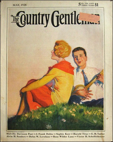 1928 Country Gentleman Cover  Man Plays Banjo