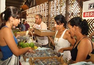 A venda de frutas foi intensa na última edição da Festa do Figo (Crédito: Divulgação)
