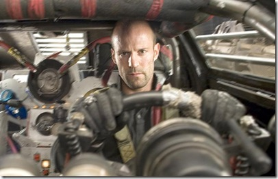 "JASON STATHAM stars as Jensen Ames in an action-thriller set in the post-industrial wasteland of tomorrow, with the world?s most brutal sporting event as its backdrop--""Death Race""."