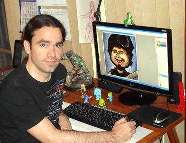 Eric Vanucci em seu estúdio de criação (Crédito: Divulgação)