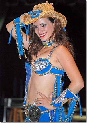 Bruna Lemes da Silva, Rainha da Festa em 2010 (Crédito: Fábio Alexandre)