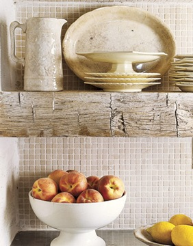 Country Living - Limestone Backsplash