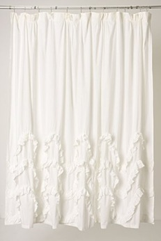Anthropologie Ruffled Curtain