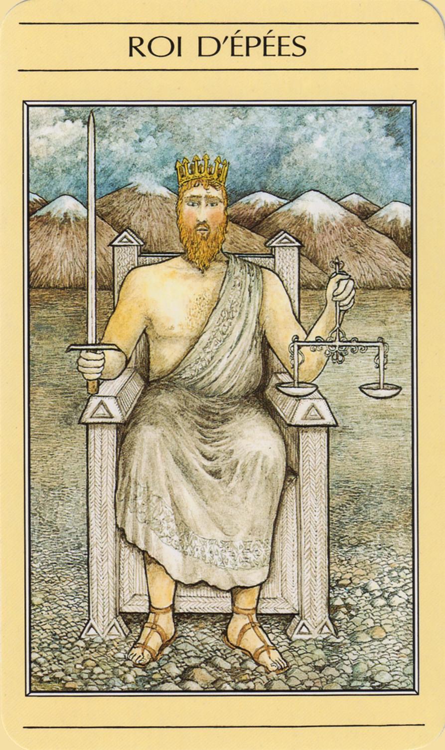 Tarot mythique symbolon tarot roi epées maitre et elève