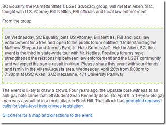 S.C. LGBT group to meet with FBI « qnotes - north carolina south carolina lgbt arts entertainment news views_1303310817200