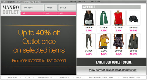 Mango Outlet Online store