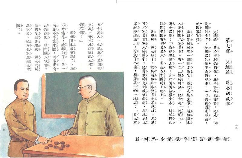台湾的国小教科书里的意识形态演变