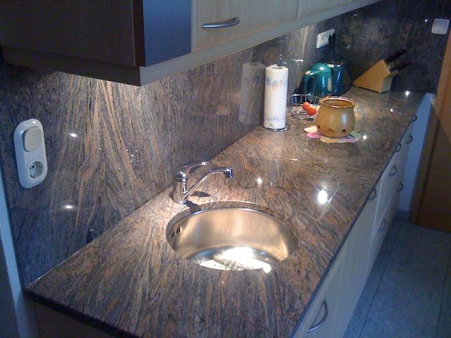 arbeitsplatte platte k che stein paradiso granit sp le ebay. Black Bedroom Furniture Sets. Home Design Ideas
