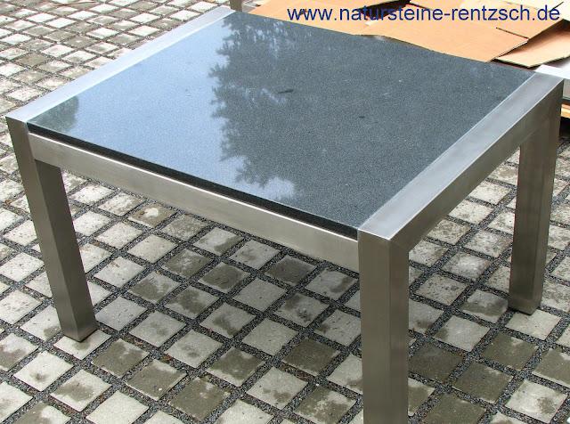 Modernes design edelstahltisch esstisch steintisch tisch for Wohnzimmertisch granit