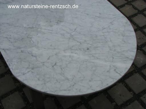 Tischplatte marmor carrara weiss couchtisch platte oval for Tischplatte rund marmor