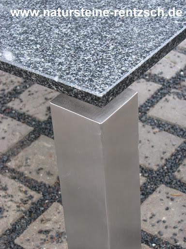 Tisch couchtisch edelstahltisch granit marmor wohnzimmer for Couchtische granit marmor