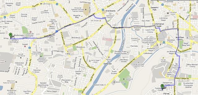 kothrud route