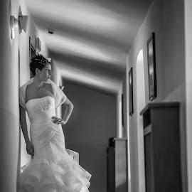 bride by Mauro Locatelli - Wedding Bride ( black and white, bride )