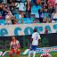 Partido de liga de primera división en La Roamreda Real Zaragoza - Sporting de Gijón.Alegría del Real aragoza, Sinama Pongolle.