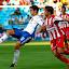 Partido de liga de primera división en La Roamreda Real Zaragoza - Sporting de Gijón.Rivera y Ánder Herrera.