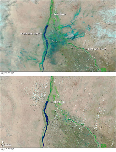 Floods in Sudan Image. Caption explains image.