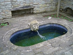Peaceful water feature - Roman style