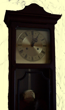 Clock - turn back the time from1.00am to 12