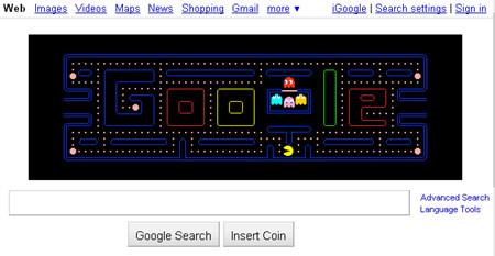 Play Pac-Man on Google
