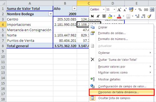 "Activar o desactivar ""Total general"" en una tabla dinámica_imagen2"